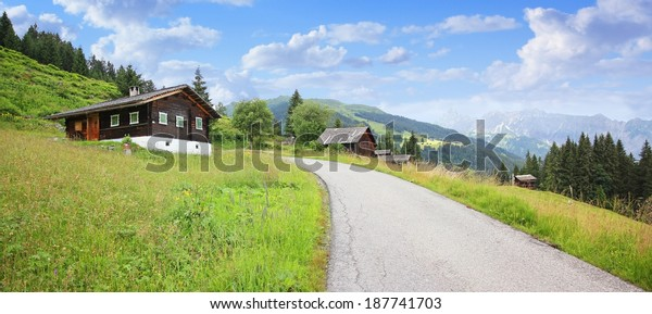 picturesque hiking trail vorarlberg, montafon, austrian alps