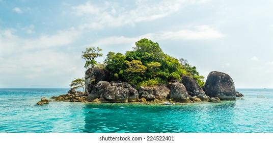 Picturesque island at ocean, Thailand,