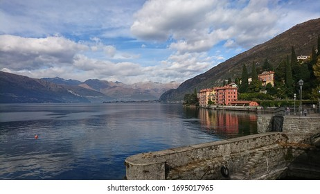 Picturesque lakeside town in Italy.