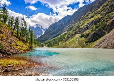 Picturesque landscape Mountain Altai Russia