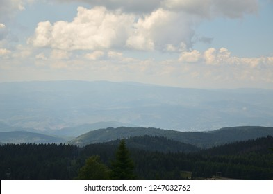 Picturesque landscape of mountain Kopaonik, Serbia, in summer
