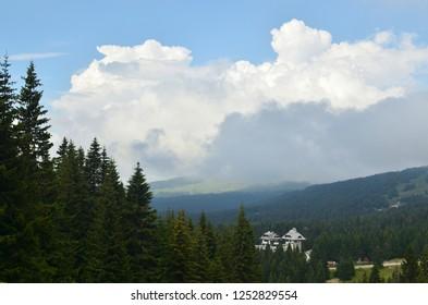 Picturesque landscape of mountain Kopaonik, Serbia in summer