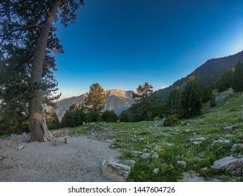 Picturesque landscape on Mount Olympus and the national Park around.  Tourist destination in the Olympus Mountain region of Northern Greece.