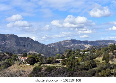 A picturesque landscape on the slopes of Topanga Canyon. California.