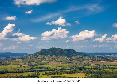 Picturesque landscape with a volcanic hill near to Badacsony, Lake Balaton, Hungary