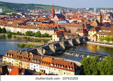Picturesque landscape with Wurzburg, Germany