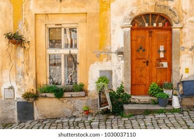 Picturesque Medieval house Loket, Czech Republic