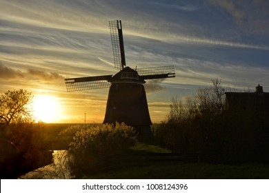 picturesque mill in Holland