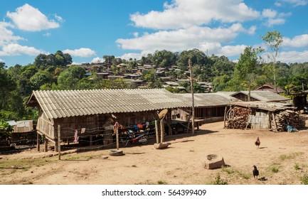 Picturesque mountain village in Thailand.