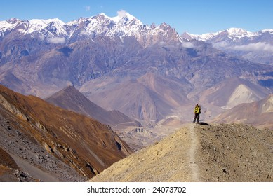 Picturesque nepalese landscape