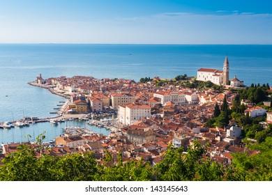 Picturesque old town Piran - Slovenian adriatic coast.