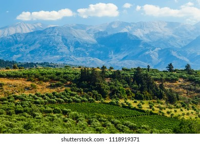 picturesque plateau in Greece on the island of Crete