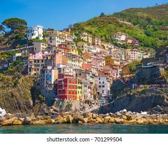 Picturesque Riomaggiore village in Cinque terre, Italy