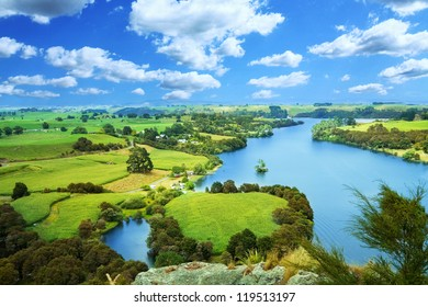 Picturesque river landscape
