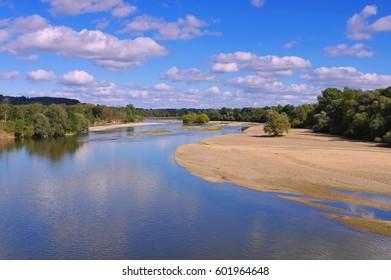picturesque river Loire ,Central  France