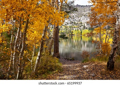 Picturesque rural landscapes on Mammoth lake