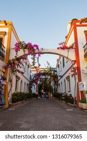 Picturesque scene in Puerto de Mogan, Gran Canaria, Canary islands, Spain