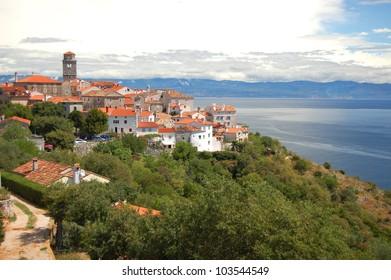 Picturesque scene of village Brsec on Istria peninsula, Croatia
