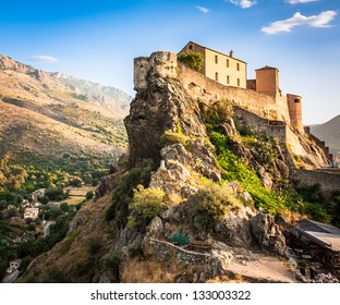 Picturesque scenery of fortress in Corte