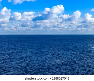 Picturesque sea landscape. Water is lit with the sun
