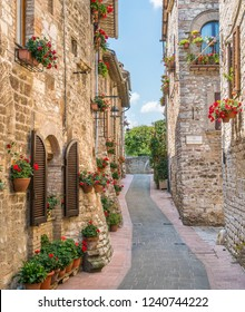 A picturesque sight in Assisi. Province of Perugia, Umbria, central Italy.