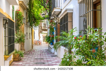 Picturesque sight in Marbella old town, province of Malaga, Spain.