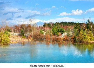 Picturesque small lake