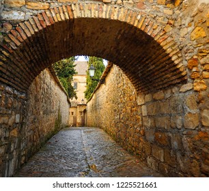 Picturesque street in Baeza. Renaissance city in the province of Jaén. World heritage site by Unesco. Andalusia, Spain
