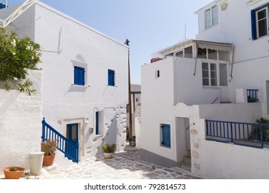 picturesque street in a greek island