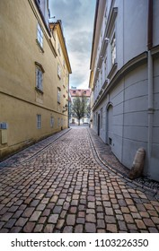 The picturesque street of the Kampa Island under the Prague Castle