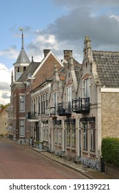 A picturesque street in the small historical town of Willemstad, The Netherlands