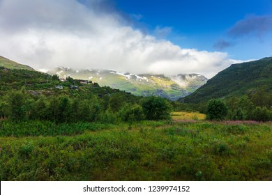 Picturesque summer mountain landscape of Norway.