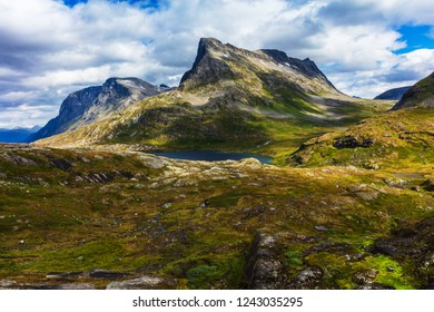 picturesque summer mountain landscape of Norway