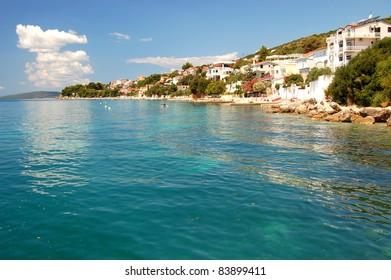 picturesque superb view on croatian rocky coast in dalmatia