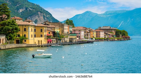 The picturesque town of Gargnano on Lake Garda. Province of Brescia, Lombardia, Italy.