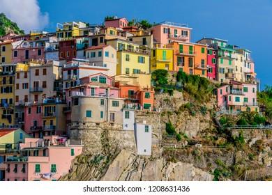 Picturesque town of Manarola, in the province of La Spezia, Liguria, Italy