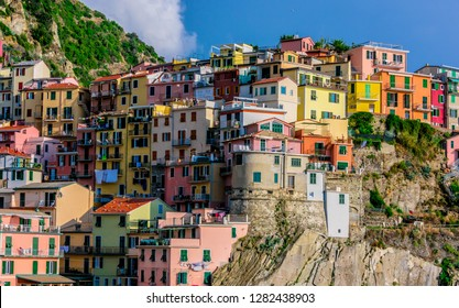 Picturesque town of Manarola, in the province of La Spezia, Liguria, Italy