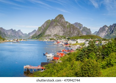 Picturesque town Reine on Lofoten islands in Norway