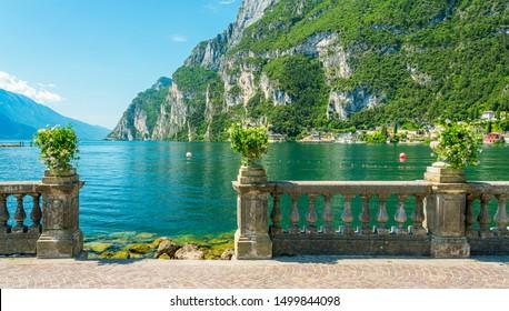 The picturesque town of Riva del Garda on Lake Garda. Province of Trento, Trentino Alto Adige, Italy.