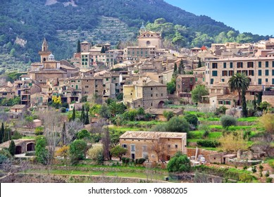 Picturesque town of Valldemossa in Majorca (Spain)