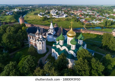 Picturesque view of the ancient sights of Suzdal, the Golden ring of Russia.