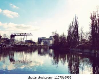 picturesque view in berlin neukoelln area