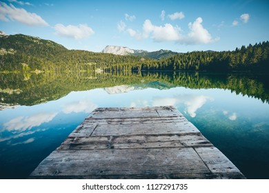 Picturesque view of Black lake. Location place National park Durmitor, village Zabljak, Montenegro, Balkans, Europe. Scenic image of most popular travel destination. Discover the beauty of earth.