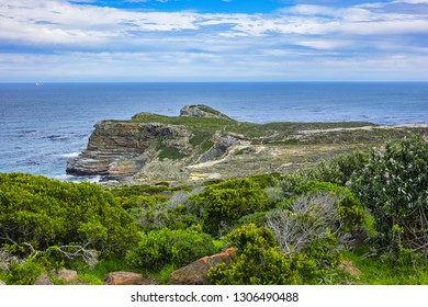 Picturesque view of Cape of Good Hope - the most south-western point of the African continent. Cape Peninsula, South Africa.