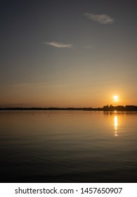 Picturesque view of Chiemsee lake during sunset