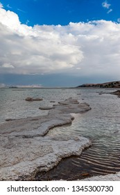 Picturesque view from the Dead sea beach. Israel