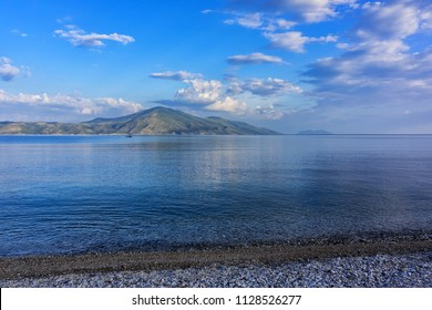 Picturesque view of Karaburun Peninsula. Karaburun Peninsula (Gadishulli i Karaburunit) - peninsula located in southwestern Albania on the border of two seas Adriatic Sea and Ionian Sea.