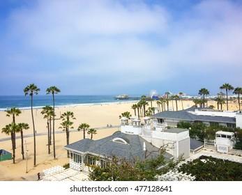 Picturesque view of LA's beautiful Santa Monica.