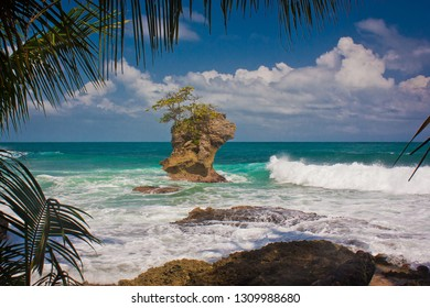 Picturesque view of ocean in Manzanillo on Costarican coast