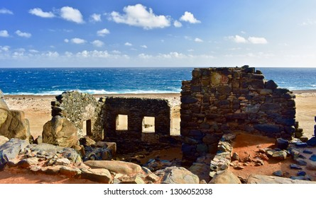 Picturesque views of the Bushiribana Gold Mill Ruins in Aruba